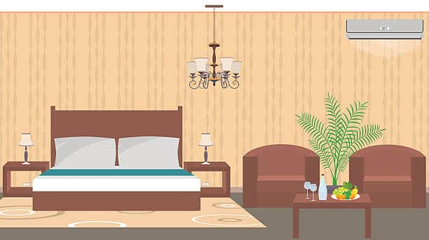 hotel room illustration