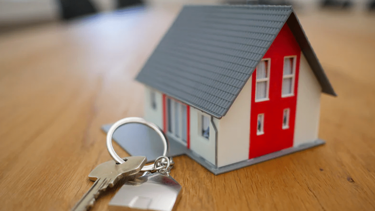 House keys and a small model of a house