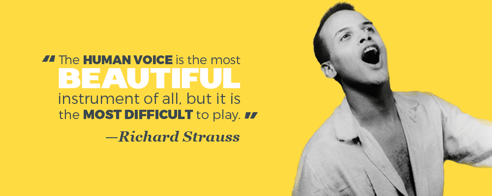 """The human voice is the most beautiful instrument of all, but it is the most difficult to play."" —Richard Strauss"