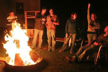 free things to do on saturday night backyard bonfire