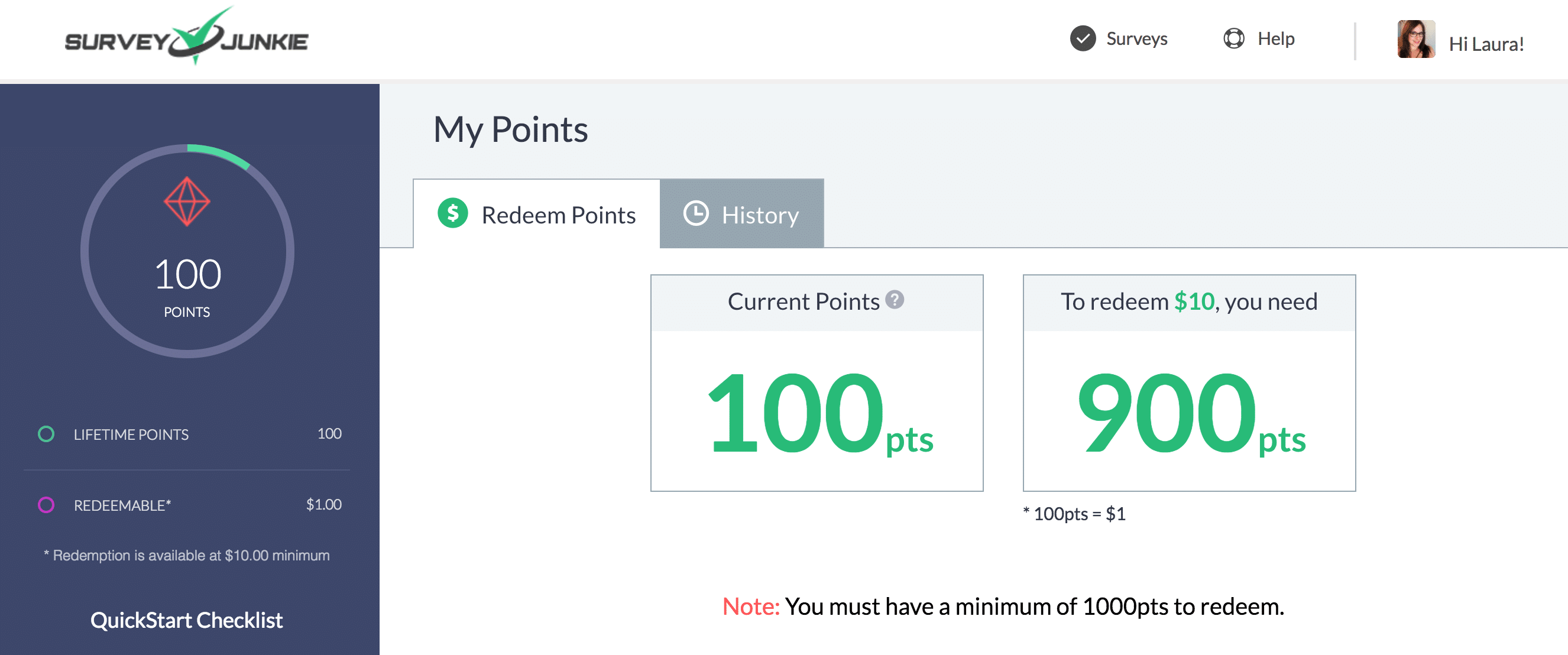 survey junkie review my points