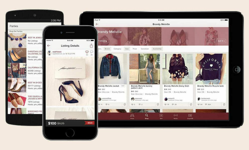 Online clothing and fashion store through Poshmark