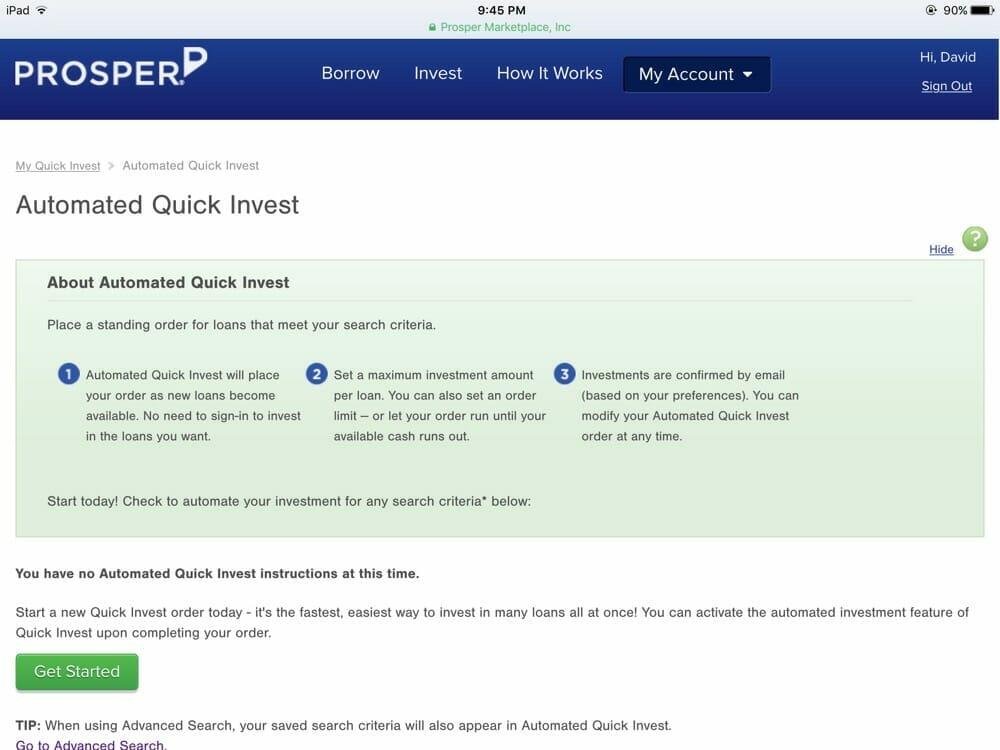 Prosper Quick Invest