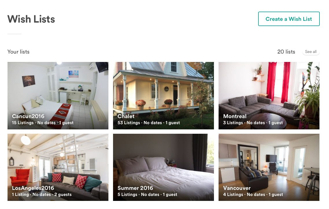 Airbnb listing photos