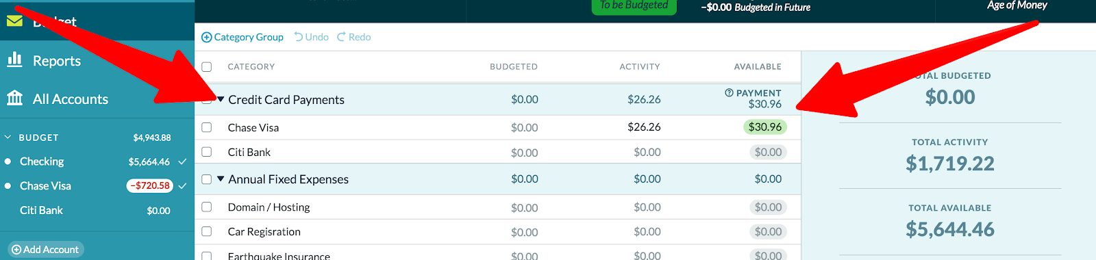 YNAB Credit Card