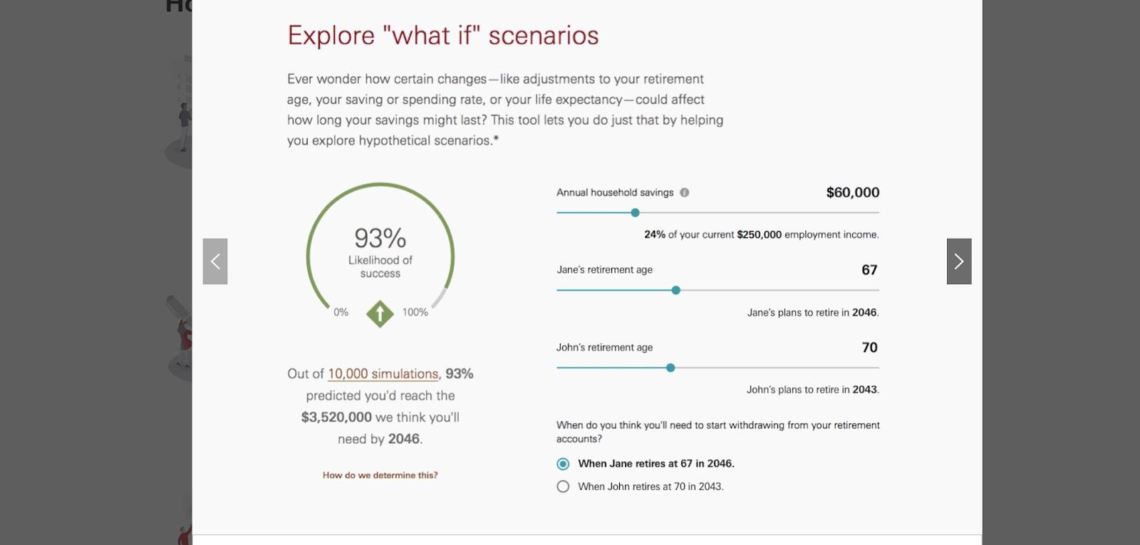 vanguard exploring what if scenarios for clients