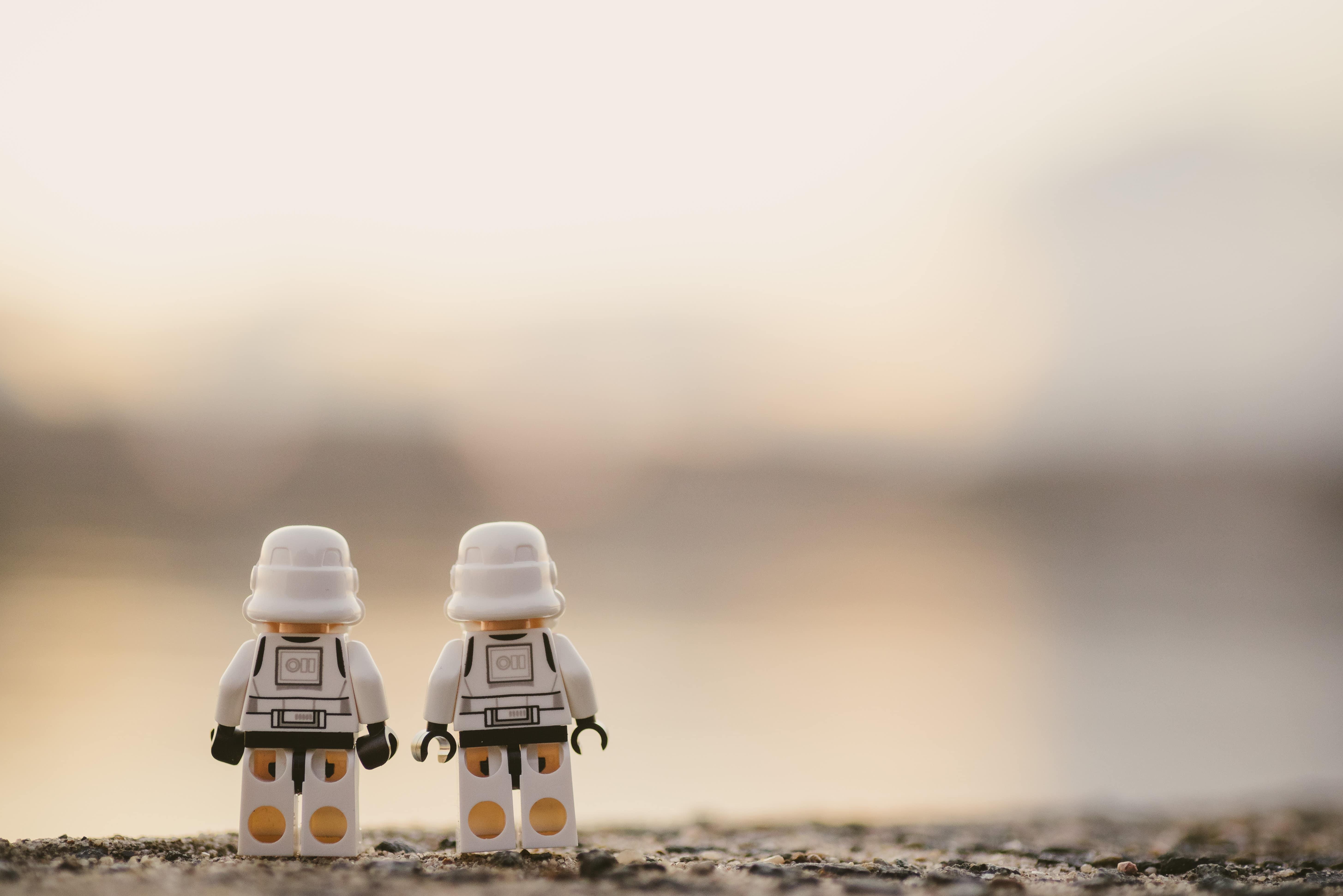 lego storm troopers gazing into horizon