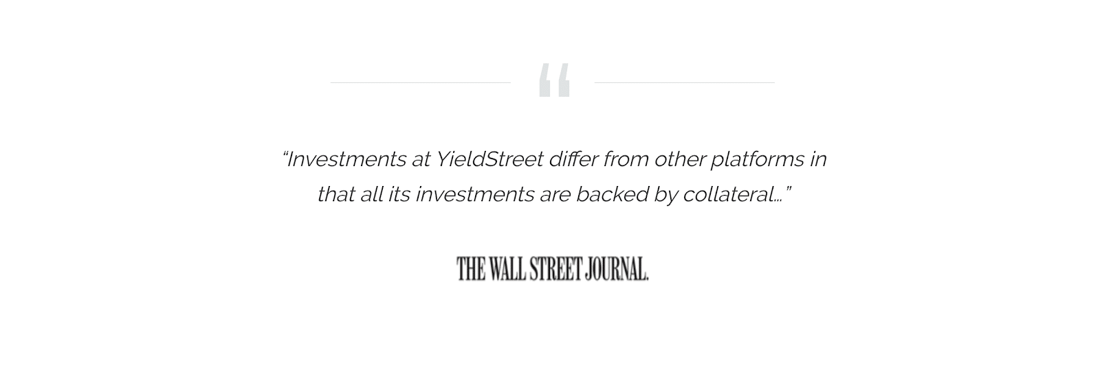 yieldstreet quoted in wall street journal