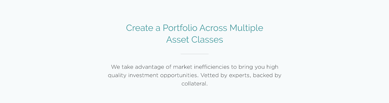 yieldstreet multiple asset class selection