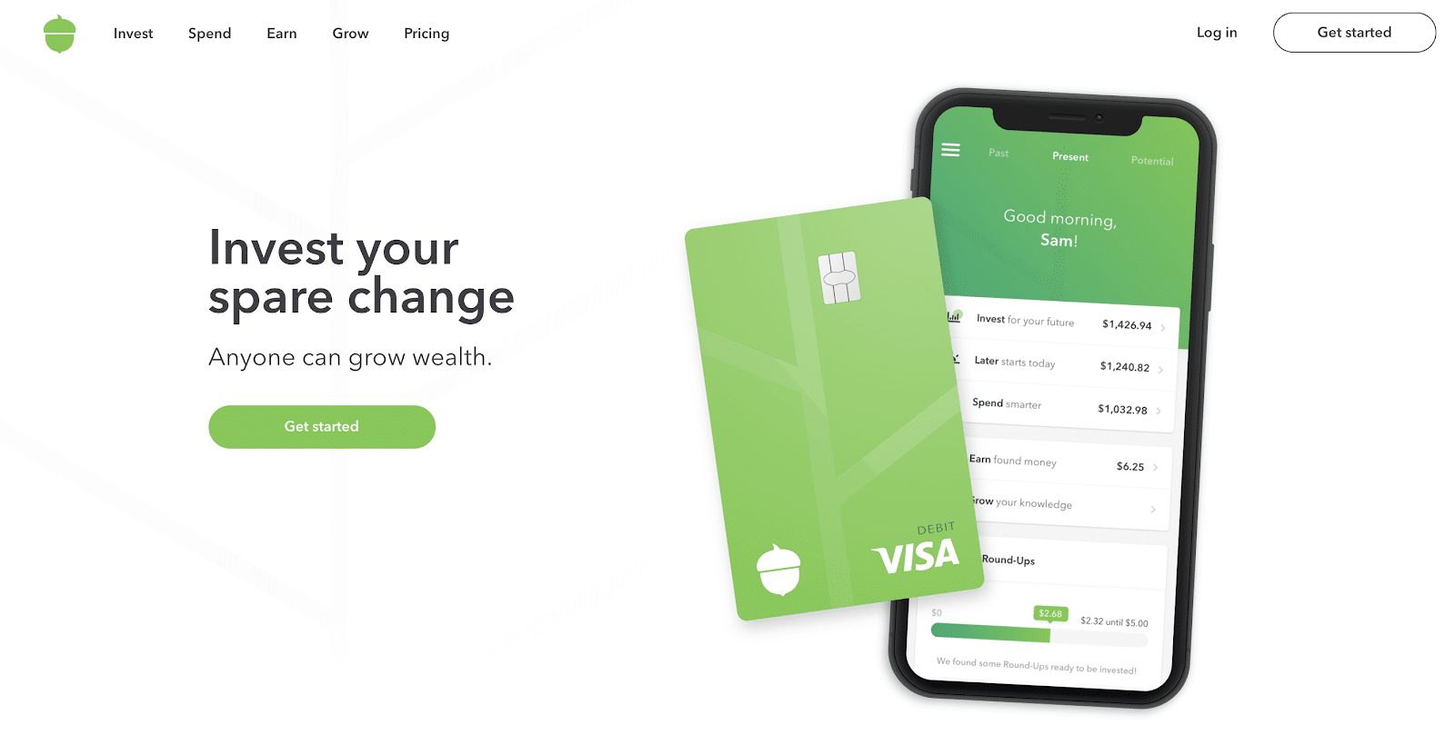acorns mobile phone and debit card