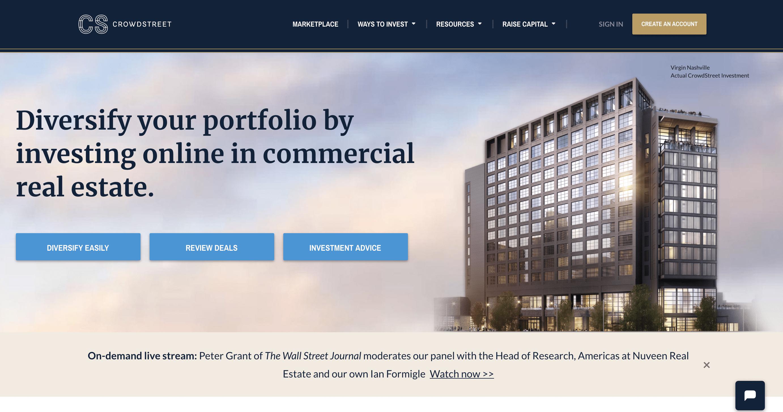 crowdstreet website home page