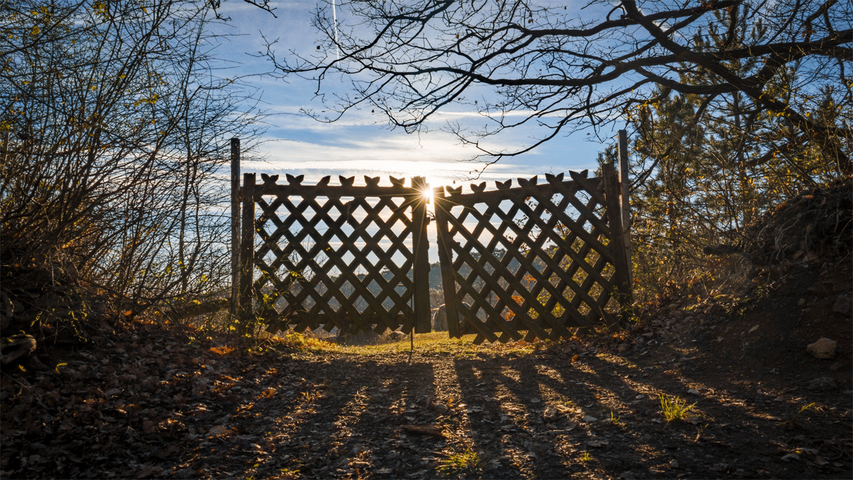 fenced gate